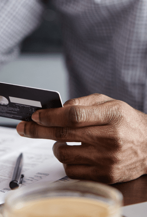 Credit card on smartphone for banking