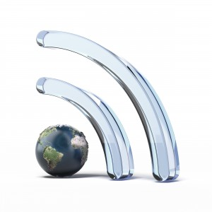 Wifi wireless icon with earth